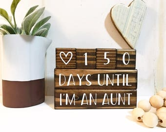 Coundown blocks / Wedding / Birth announcement / Special event
