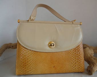 Faux Snakeskin Purse