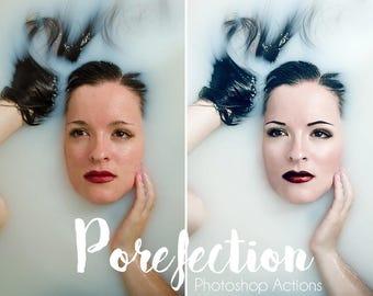 PORE-fection Photoshop Action Bundle