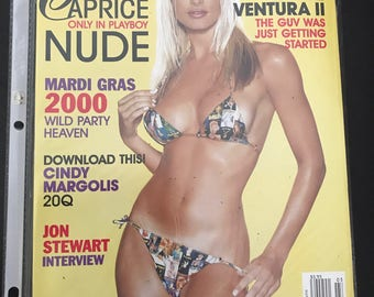 Playboy Magazine - Caprice - March 2000