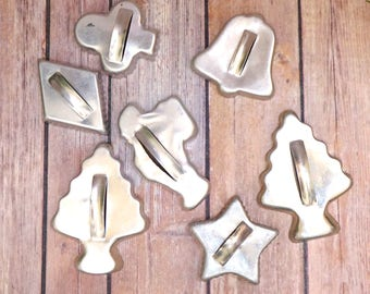Cookie Cutters, Nostalgic Cooking, Christmas Kids Children, Christmas Trees, Star, Bell, Club, Diamond Card Shapes