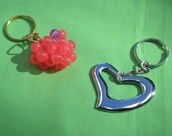 Lot Of Heart Shaped Keychains Repair Repurpose