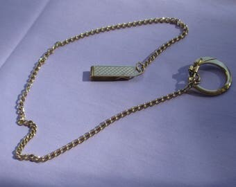 Vintage Fob Chain With Key Ring