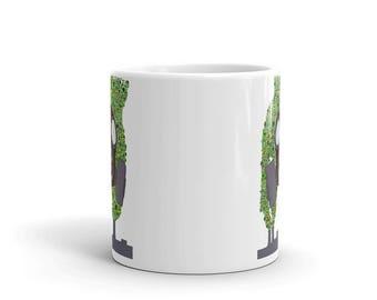 Gas mask pollution hand drawn design coffee Mug