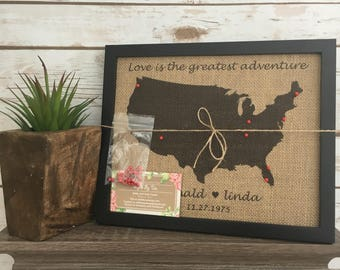 World map pin board etsy framed push pin travel map of united states world map us push pin map gumiabroncs Image collections