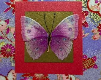 Beautiful Butterfly Post It Note Holder