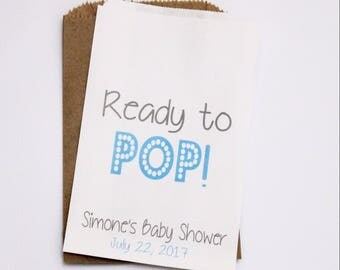 ON SALE Baby Shower Candy Buffet Bags, Candy Buffet Favor Bags, Treat Bags, Popcorn Bags, Ready To Pop Bags