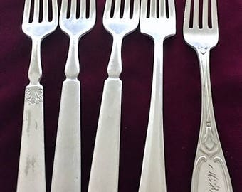 Vintage Silverplate Mixed Dinner Forks By ROGERS BROS* A1