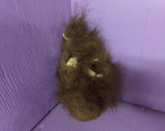Real buffalo scrotum nut sack hide animal skin genuine leather tanned taxidermy craft part piece for man cave art rare weird wild