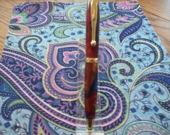Rainbow acrylic comfort style twist pen