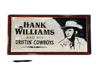 Hank Williams wood poster hand painted