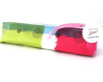 Trousse brosse à dents et dentifrice  colorée