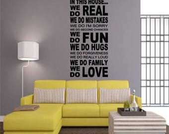 EVERYTHING IS 20% OFF In This House... Wall Decal
