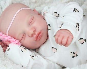 Realborn Sleeping Priscilla Reborn Baby Doll NO HAIR...to be made