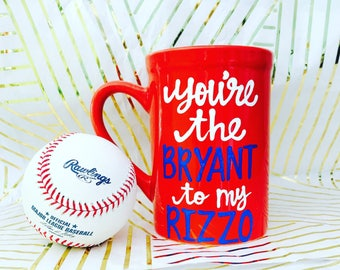 best friends-gifts for baseball fan- besties- coffee mug- bryant-rizzo- best friend goals-Father's Day- chicago cubs- Bromance- bryzzo