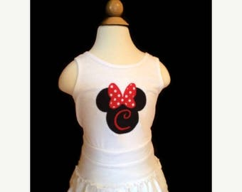 ON SALE Disney Minnie Mouse Tank Top with Initial - Youth