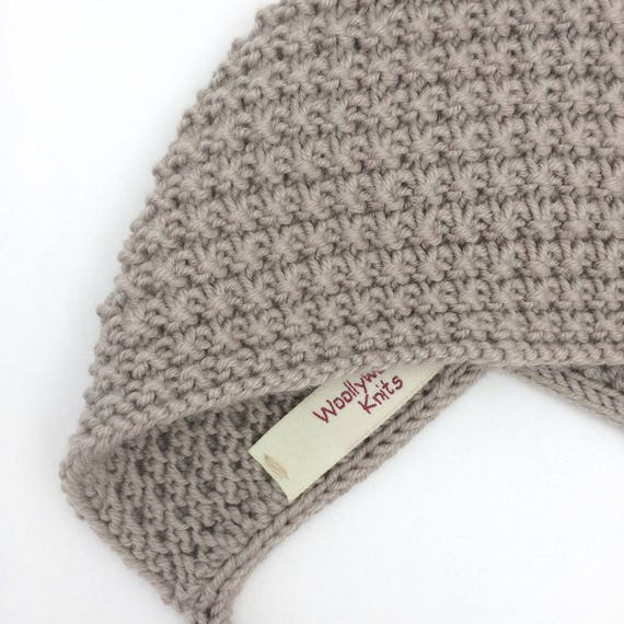 Inga Knit Baby Bonnet in Pebble - Sizes newborn to Age 24 months