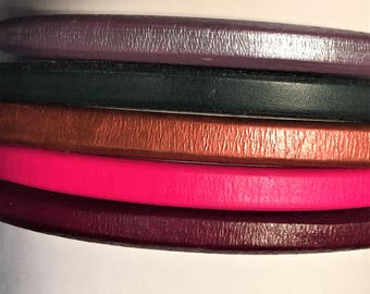 "Shorts: 5 Strands licorice leather bundle, 6"" each, Colors as shown, #12 bundle"