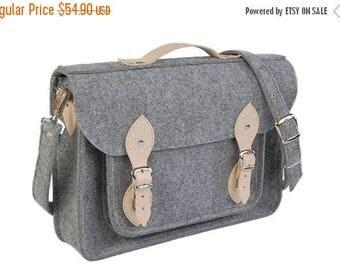 Macbook pro bag, laptop bag, messenger bag, leather messenger bag, macbook pro 17, custom macbook case, felt bag, leather satchel, shoulder