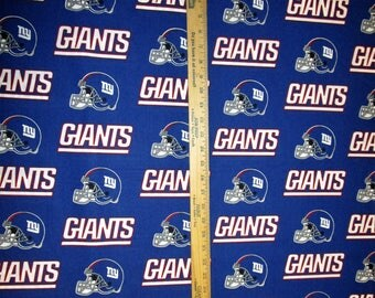 NFL Logo New York Giants 6314D Blue Cotton Fabric by Fabric Traditions! [Choose Your Cut Size]