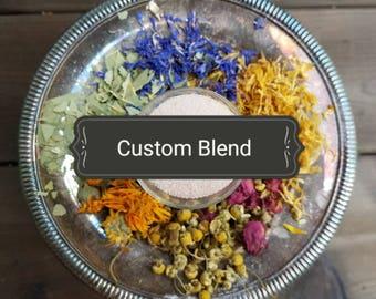 Herbal Bath Soak - Custom Blend - Natural Bath Care - Bath Salts - Spa & Relaxation
