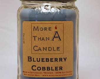 16 oz Blueberry Cobbler Soy Candle