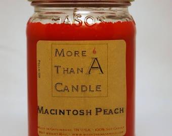 16 oz Macintosh Peach Soy Candle