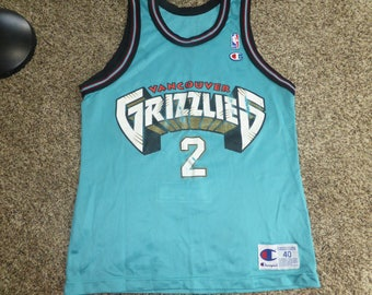 Vtg Greg Anthony Vancouver Grizzlies NBA Champion Jersey Sz Men's 40 M