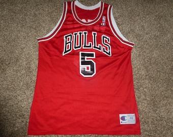 Vtg John Paxson Chicago Bulls NBA Champion Jersey Sz Men's 48 XL