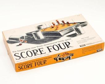 Complete 1971 Score Four Board Game Vintage Antique
