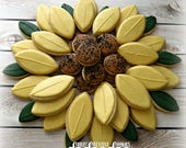 Sunflower Platter-4 dozen cookies (48) which can be arranged to look like a sunflower!