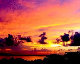 Digital Photo Sunset Cancun Mexico