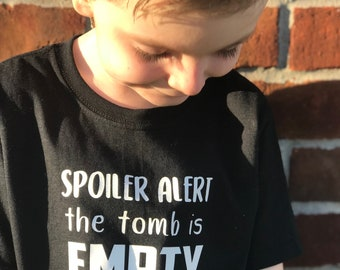 The tomb is empty, easter shirt, kids tshirt
