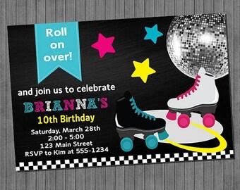 FLASH SALE Roller Skating Invitations