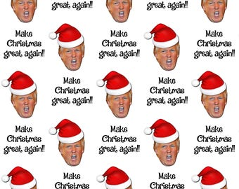 Trump 'Make Christmas Great Again' Wrapping Paper