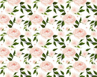 Dream Blanket Swan Florals. Baby Blanket. Faux Fur Blanket. Lovey. Minky Baby Blanket. Floral Blanket. Blush Baby Blanket. Floral Nursery.