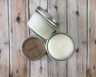 Whiskey & Jazz -Scented Candle, Spirits Candle, Spirits Collection, Man Candles, Man Cave Candles, Soy Coconut Candles, Whiskey Candles