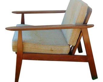 Danish Mid Century Chair, Mid Century Chair Lounge, Danish Lounge Chair, Teak Chairs, Douglas Eaton, Minimalist Chair, 1960s Furniture, 60s