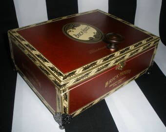 Brick House Cigar Box Valet, Watch Box, Stash Box, Groomsman Gift, Guy Gift, Authentic, Tampa