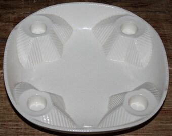 Goebel Advent Wreath Ceramic/Advent plate/Kerzenteller White Christmas Advent