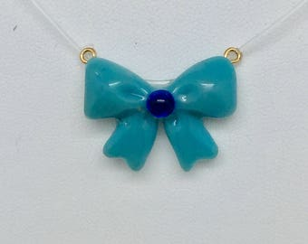 Sailor Moon inspired Mercury Bow Necklace