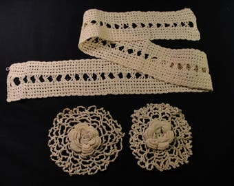 Vintage Crocheted Sewing Notions - 3 pcs