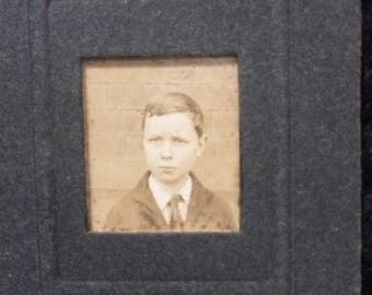 Vintage Photo of Young Boy