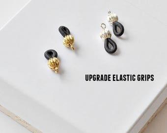 Elastic Grips, Elastic Eyeglass Grips, Glasses Holders, Eyeglass Holders