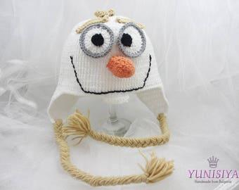 Crochet baby hat Baby boy hat Crochet hat Olaf Hat Frozen Olaf Hat Kids Halloween Costume Toddler Halloween Costume Baby Halloween Costume