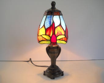 Dragonfly Stained Glass Lamp  Accent Lamp