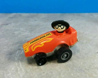 Vintage Hamburglar McDonalds Happy Meal Toy - Wind Up Car - Vintage 80s Kids Toy