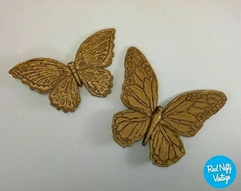 Gold butterfly wall | Etsy