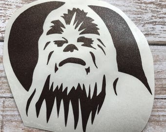 Chewbacca Chewy Vinyl Decal Car Laptop Wine Glass Sticker