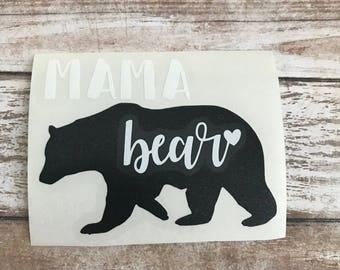 Mama Bear Vinyl Decal Car Laptop Wine Glass Sticker